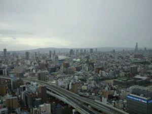 台風接近中の大阪