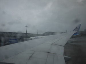 台風11号の中を香港へ