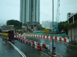 香港 MTR新線工事現場