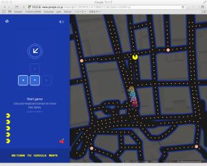 グーグルマップでパックマン